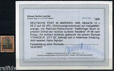 DP Marokko 35 C. Reichspost 1900 mit Plattenfehler Befund (S8020)