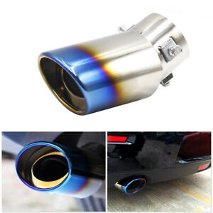 Car Exhaust Muffler Tip Round Stainless Steel Pipe Chrome Tail Muffler Tip Pipe