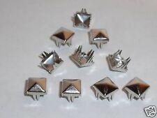 100 Pyramiden-Nieten Pyramidennieten 7 x 7 silber