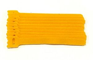Yellow 10 Pcs 6in. Reusable Hook & Loop Cable Tie for Cable Management