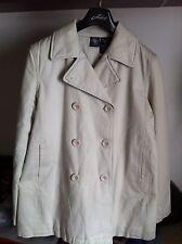 Abrigo DKNY Jeans Color Beige MUJER Talla L NUEVO Jacket Coat Parka Donna Karan