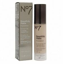 No7 Beautifully Matte Foundation for Normal/Oily Skin ~ Choose Your Shade