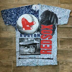 NWOT Boston Red Sox VTG Single Stitch All-Over STARTER Deadstock Shirt Large