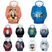 Spirited Away Sen to Chihiro no Kamikakushi Anime Pullover Hoodie Sweatshirt Top