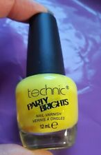 Technic Party Brights nail varnish in MIMOSA 12ml lovely summery yellow