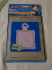 Provo Craft Cuttlebug Disney Die Cut and Embossing Folder Zig Zag Gift Tag