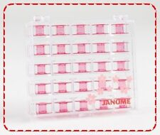 Janome Cherry Blossom Plastic Bobbins, Sewing Machine, Case, Elna, Spool, 2518P