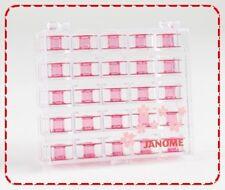 Janome Cherry Blossom Plastic Bobbins, Sewing Machine, Case, Elna, Spool, 2518P