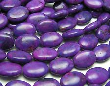 "15"" PURPLE KINGMAN TURQUOISE 10x14mm Oval Beads"