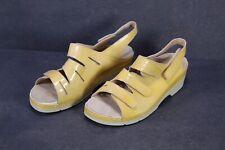 C1447 Berkemann Damen Fußbett Comfort Sandalen Lack-Leder gelb Gr. 38 (5)
