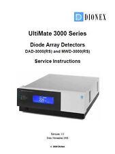 Dionex  UltiMate 3000 Series DAD-3000/MWD-3000 Service manual