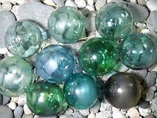 Ten Vintage Japanese Different Colored Glass Floats  Alaska BeachCombed