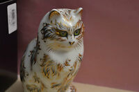 """Royal Crown Derby Paperweight """"FIFI"""" The Cat 1st Quality & With Original Box New"""
