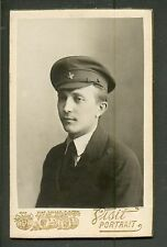 Russia Red Army Man , Cockade , Old Cabinet Photo