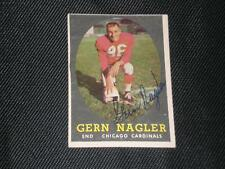 GERN NAGLER 1958 TOPPS SIGNED AUTO CARD #60 CARDINALS