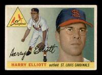 1955 Topps Set Break # 137 Harry Elliott VG Wrinkles *OBGcards*