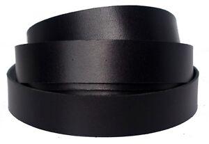 Black California Thin Latigo Leather Strips 4-5 oz (1.6-2mm) Strap Up to 94 inch