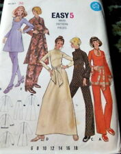 *LOVELY VTG 1970s DRESS & PANTS Sewing Pattern 14/36