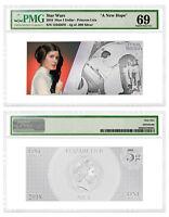2018 Star Wars New Hope Princess Leia Foil Note Silver PMG GEM Unc 69 SKU53593