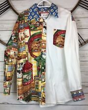 Vtg Kare Design Floral Country Farming Baking Western Button Shirt Womens L ?