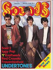 Sounds Mai 8/1981 Iggy Pop Kraftwerk Red Crayola The Undertones New Romantics