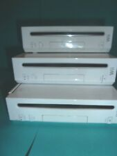 Lot of 3 Nintendo Wii Console Only  Won't Read Disc   As Is For Repair