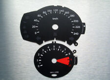 BMW F800 R / S, F650GS schwarze Tachoscheiben Km/h Gauge Tacho  dial plates