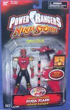 """Power Rangers Ninja Storm 5"""" Crimson Thunder Ninja Flash Power Ranger New 2003"""