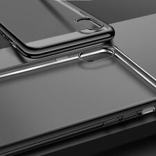 Per iPhone Cover Gel X PARAURTI Cancella Indietro Nero Corvino chiaro indietro silicone