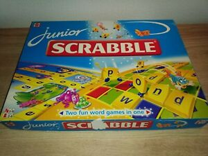 JUNIOR SCRABBLE 1999 BY MATTEL WITH INSTRUCTIONS.