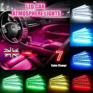 Under Dash Footwell LED Interior Light Kit for All Car Accent Light Glow Neon