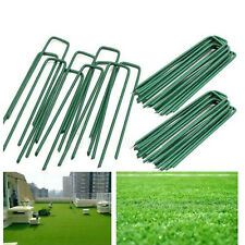 Artificial Grass Pins Green Galvanised Metal U Pegs Membrane Fabric Staple UK