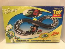 NIB VINTAGE TOY STORY Slot Car Race Racing Set GLOW IN THE DARK Disney Pixar