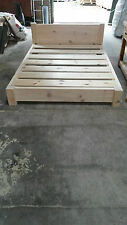 NEW SOLID WOOD RUSTIC PLANK KINGSIZE LOFT FUTON BED MADE TO MEASURE