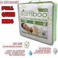 Cool Hypoallergenic Aloe Vera Bamboo Essence Mattress Pad Protector Cover