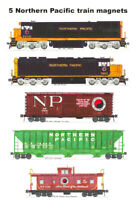Northern Pacific Freight Train 5 magnets Andy Fletcher