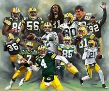 Packers : giclee print on canvas poster painting for autograph  B-0267