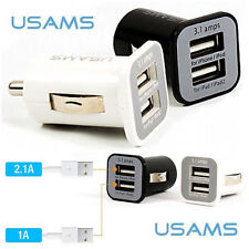 Universal Dual USB In Car Charger Twin Port Mini Adapter for iPhone, Samsung etc