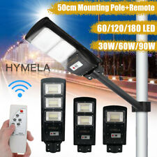 HYMELA LED Solar Street Light Radar PIR Road Lamp Motion Sensor Security Outdoor