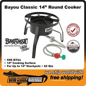 """Bayou Classic SP10 High Pressure 14"""" Cooker Most Versatile Up to 62 Qt Stockpots"""