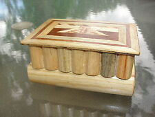 MARQUETRY PUZZLE HIDDEN DRAWER BOOK TRINKET JEWELRY BOX