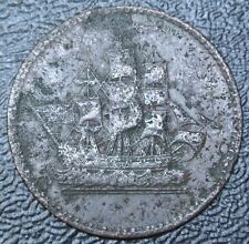 OLD CANADIAN COIN - Prince Edward Island Ships Colonies & Commerce Token -Lees 8