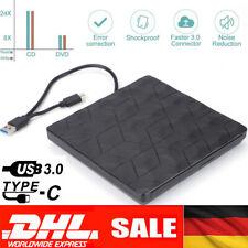 USB3.0 Externes DVD/CD Writer Brenner Laufwerk für Laptop Notebook Slim Schwarz~