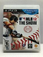 MLB 12: The Show - PlayStation 3 PS3 - Complete w/ Manual - Tested Working