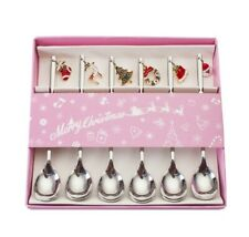Set of 6 Premium Stainless Steel Silver Spoon Christmas Gift Box Tea Coffee BNIB
