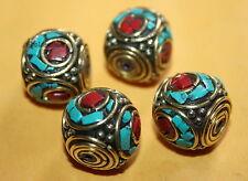 Tibetan beads Tibet beads Handmade Turquoise beads coral 4 Nepalese Beads BD826