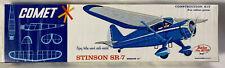 COMET ~ Stinson SR-7 ~ Flying Airplane Model Kit 3209 ~ NEW in Opened Box