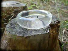 Vintage Space Age  Clear Lucite   Bracelet Bangle