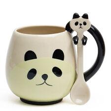 DECOLE Japan Ceramic Kawaii Cute Panda Tea Coffee Mug Cup w/ Spoon Gift Box Set