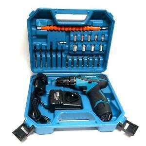 Trapano Avvitatore a Batteria litio + 24 accessori In Valigetta 12v 2 batterie
